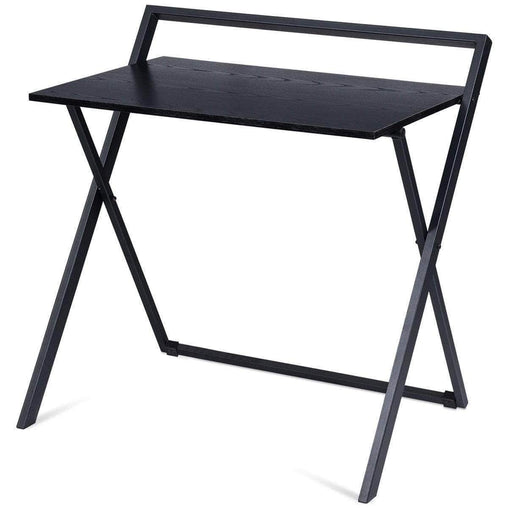 DealsDot.Com Furniture Folding Computer Desk Laptop Table with Wood Top and Metal Frame