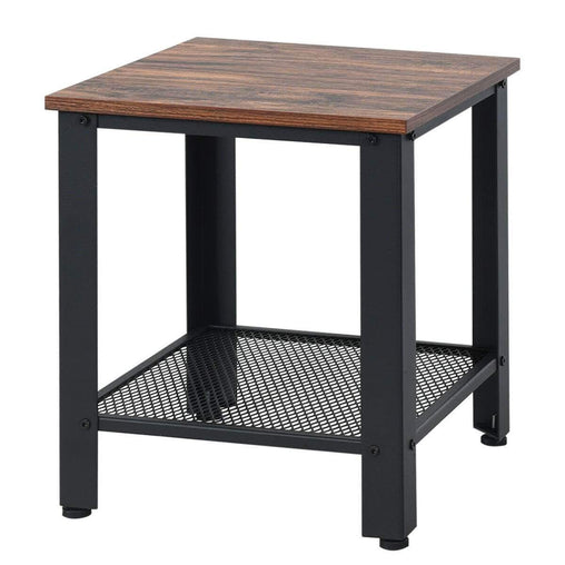 DealsDot.Com Furniture Industrial End Table 2-Tier Side Table