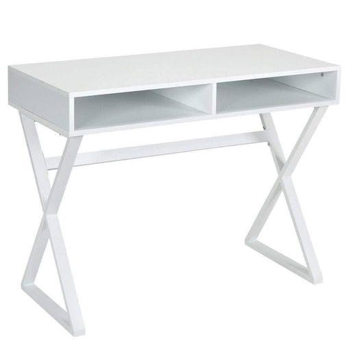 DealsDot.Com Furniture Modern Computer Desk Makeup Vanity Table with 2 Storage Compartments