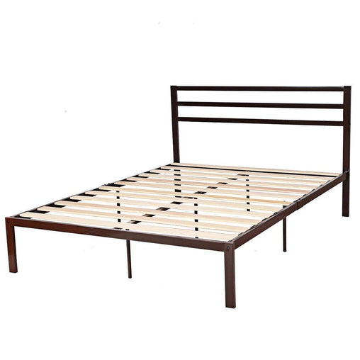 DealsDot.Com Furniture Queen Size Steel Bed Frame with Wooden Slat Support