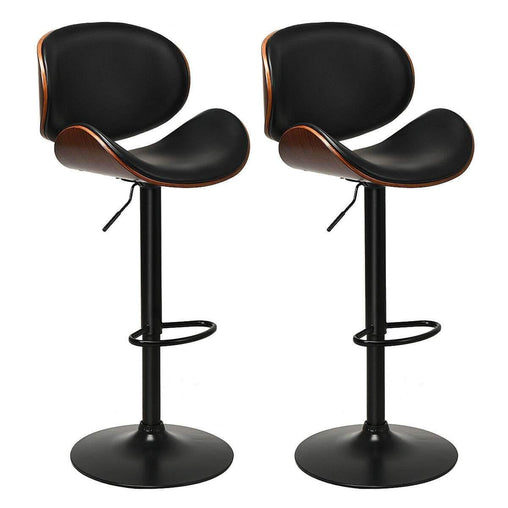 DealsDot.Com Furniture Set of 2 Bentwood Mid-Century Adjustable Swivel Barstool