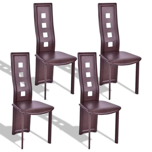 DealsDot.Com Furniture Set of 4 Steel Frame High Back Armless Dining Chairs