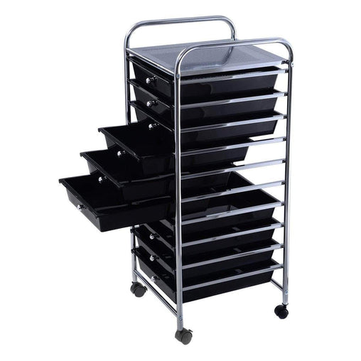 DealsDot.Com Home & Garden 10 Drawer Rolling Storage Cart Organizer