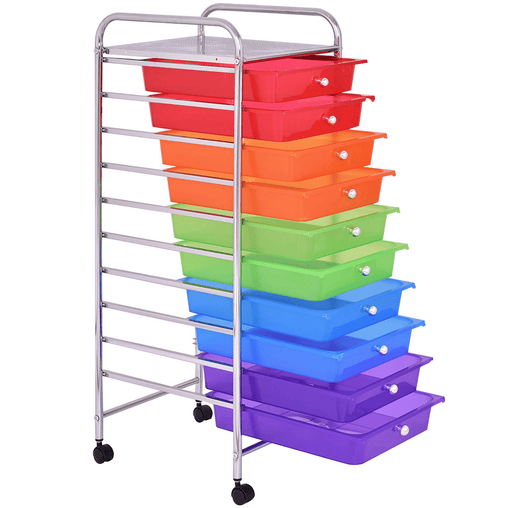DealsDot.Com Home & Garden 10 Drawers Rolling Storage Cart