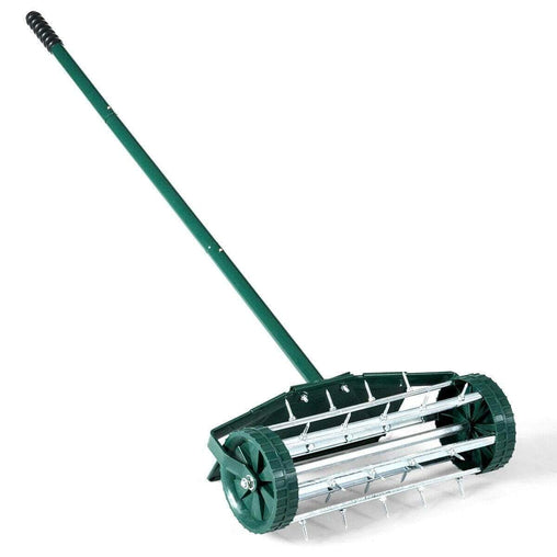 DealsDot.Com Home & Garden 18-inch Rolling Lawn Aerator roller Push Tine Soil with Fender
