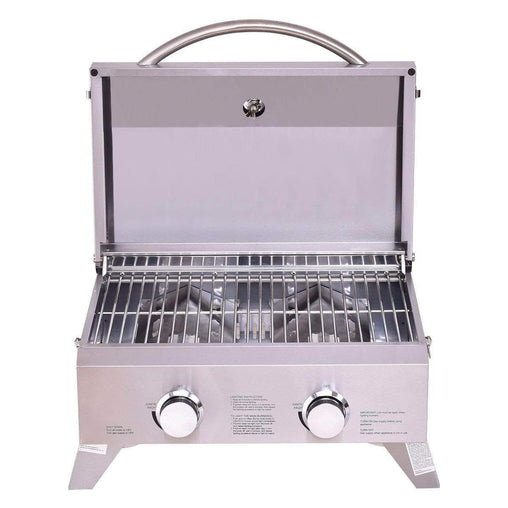 DealsDot.Com Home & Garden 2 Burner Portable Stainless Steel BBQ Table Top Grill for Outdoors