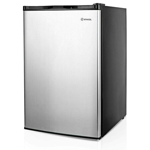DealsDot.Com Home & Garden 3 cu.ft. Compact Upright Freezer with Stainless Steel Door