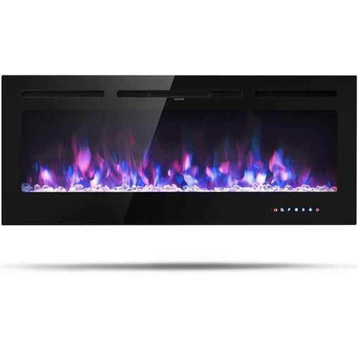 "DealsDot.Com Home & Garden 50 "" Electric Fireplace Recessed Wall Mounted with Multicolor Flame"