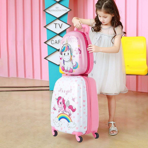"DealsDot.Com Luggage & Bags 12"" Backpack and 16"" Rolling Suitcase Kids Luggage Set"
