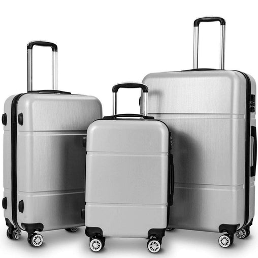 "DealsDot.Com Luggage & Bags 3 Pcs GLOBALWAY Luggage Set 20"" 24"" 28"" Trolley Suitcase w- TSA Lock"