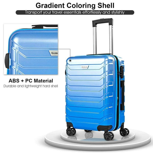 DealsDot.Com Luggage & Bags 3 pcs Spinner Expandable Suitcase with TSA Lock