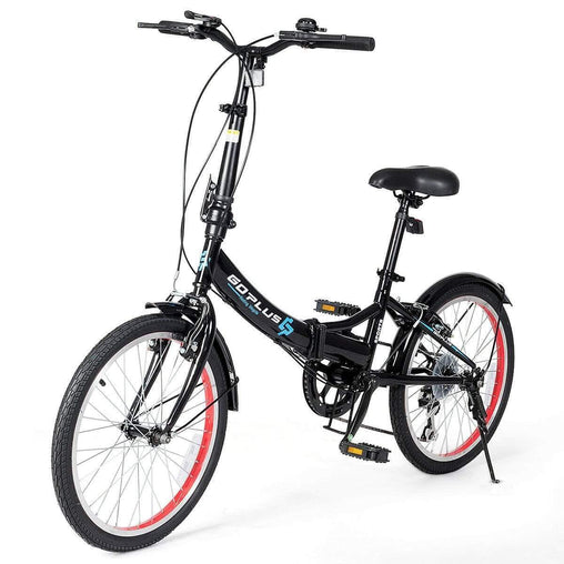 "DealsDot.Com Sporting Goods 20"" Lightweight Adult Folding Bicycle Bike with 7-Speed Drivetrain Dual V-Brakes"