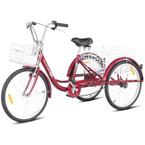 "DealsDot.Com Sporting Goods 24"" Single Speed 3-wheel Bicycle Adult Tricycle"