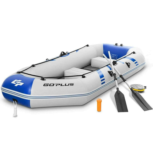 DealsDot.Com Sporting Goods 3-4 Persons Inflatable Fishing Boat With Oars and Air Pump