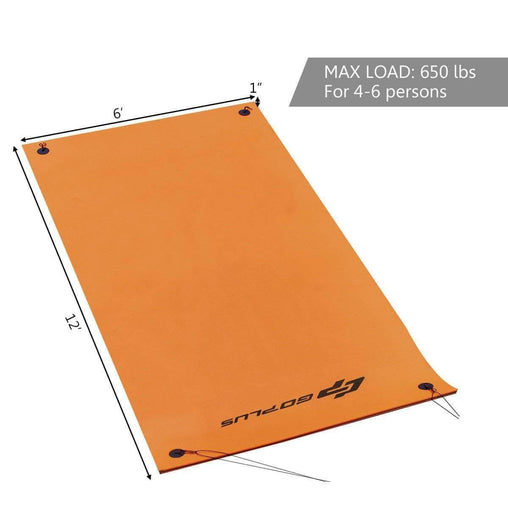 DealsDot.Com Sporting Goods 3 Layer 12' x 6' Island Water Sports Recreation Floating Mat