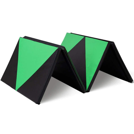 "DealsDot.Com Sporting Goods 4' x 10' x 2"" Green Thick Folding Panel Gymnastics Mat"