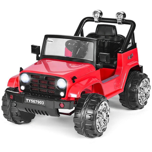DealsDot.Com Toys & Games 12 V Kids Music Remote Control Ride on Jeep Car with LED Lights