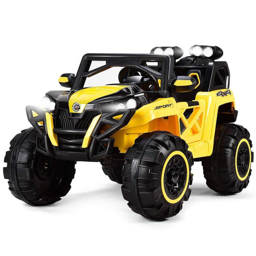 DealsDot.Com Toys & Games 12V Kids Riding Racing Remote Control Truck with LED Light