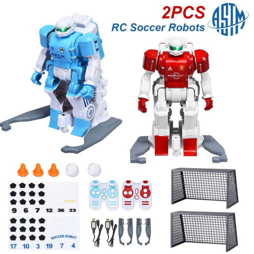 DealsDot.Com Toys & Games 2 pcs Remote Control Rechargeable Battery Soccer Robots