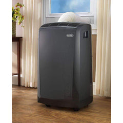 DeLonghi Heating & Cooling PACN135EC 3-in-1 Portable Air Conditioner, Dehumidifier & Fan + Remote Control & Wheels, 550 sq. ft, Large Room, Dark Gray