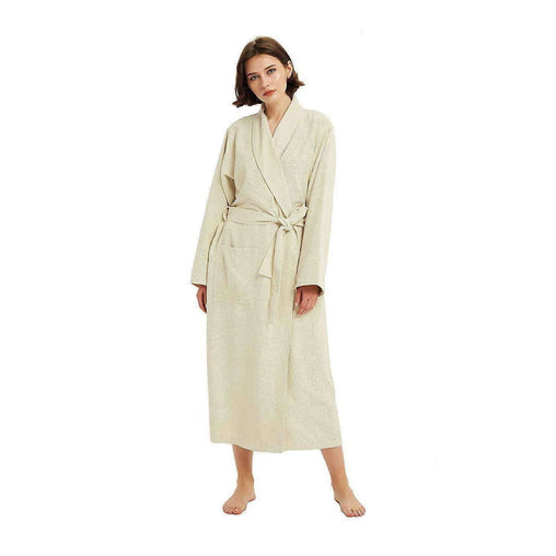 French Terry Bedding & Bath Microfiber Waffle Weave Drying SPA Robe for Women, Ultra Absorbent & Fast Drying Soft Lightweight Bathrobe