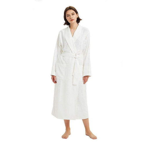 French Terry Bedding & Bath Microfiber Waffle Weave Drying SPA Robe for Women, Ultra Absorbent & Fast Drying Soft Lightweight Bathrobe - White