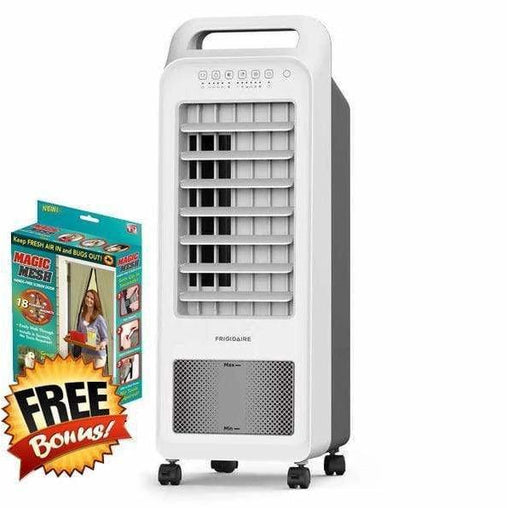 Frigidaire Heating & Cooling Frigidaire 2-in-1 Personal Evaporative Air Cooler and Fan with bonus Magic Mesh Curtain