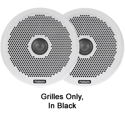 "Fusion Pair of Black Grilles, 6"", MS-FR6021"