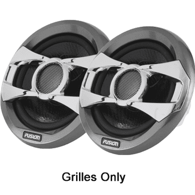 "Fusion Pair of Grey Spoke Grills, 6"", MS-FR6021"