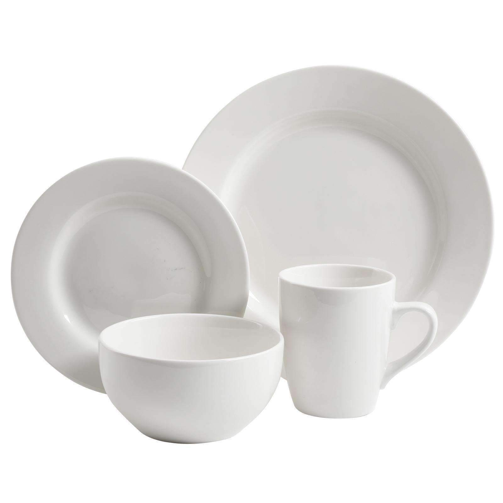 GibsonElite Dinnerware Sets Gibson Elite Gracious Dining 16-Piece Hotelware Set made of Fine Ceramic in White