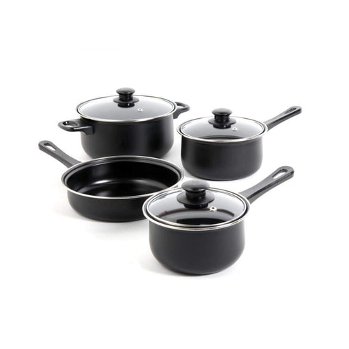 GibsonHome Cookware Gibson Home Chef Du Jour 7 Piece Cookware Set in Black