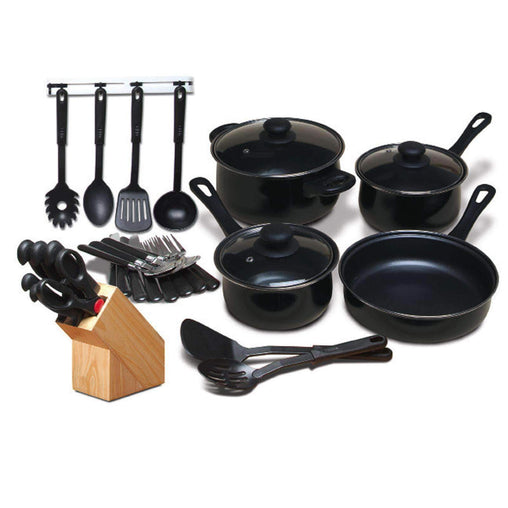 GibsonHome Cookware Gibson Home Total Kitchen 32-Piece Cookware Combo Set