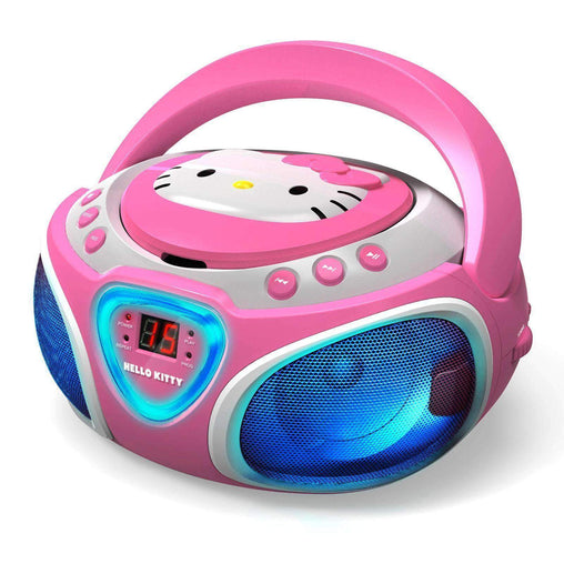 HelloKitty Hello Kitty Hello Kitty CD Boombox with AM-FM Radio and LED Light Show