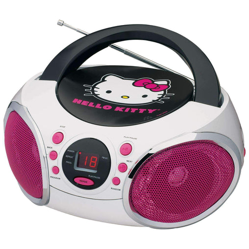 HelloKitty Kids Electronics Hello Kitty Portable Stereo CD Boombox with AM-FM Radio Speaker