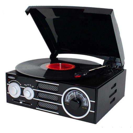 Jensen Nostalgia Systems Jensen 3-Speed Stereo Turntable with AM-FM Stereo Radio