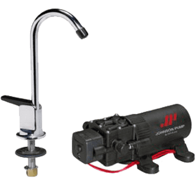 JOHNSON PUMPS Faucet/1.1GPH Pump Combo 12V