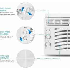 koolIT Heating & Cooling Eco Friendly Indoor Room Air Conditioner with Mounting Kit