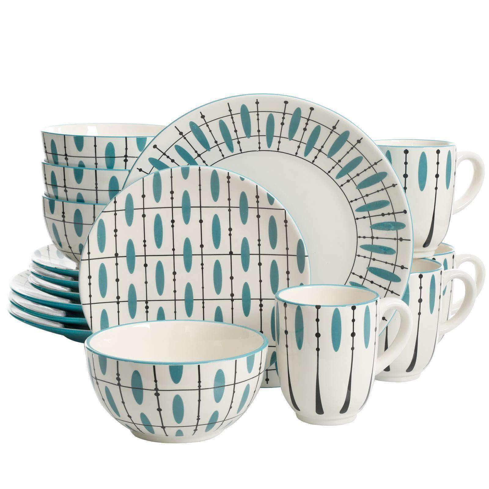 LaurieGates Dinnerware Sets Laurie Gates Luminescent 16 Piece Dinnerware Set, Hand Painted