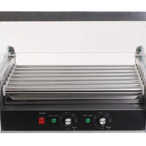 LivingTrend Business & Industrial 18 Hot Dog 7 Roller Grill Cooker Commercial Machine