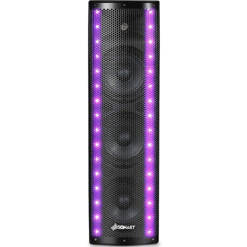 LivingTrend Electronics 1000W Bi-Amplified PA System 3-Channel Bluetooth Speaker
