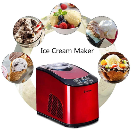 LivingTrend Home & Garden 1.6 Quart Automatic Digital Display Ice Cream Maker