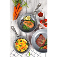 LivingTrend Kitchen 3D Nonstick Diamond Ceramic 3pc Cookware - Red