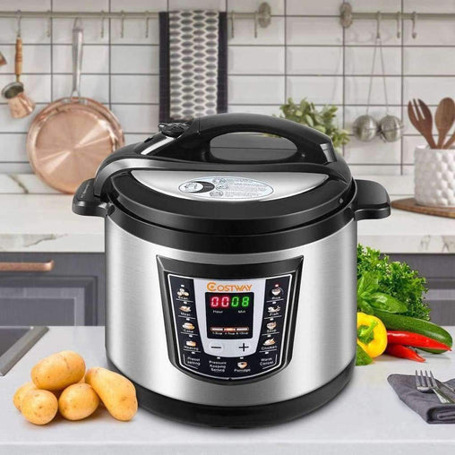 LivingTrend Kitchen 6 quart Electric Stainless Steel Pressure Cooker