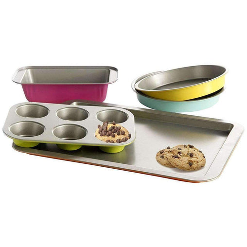 LivingTrend Kitchen Carbon Steel 5 Pcs Bakeware Set
