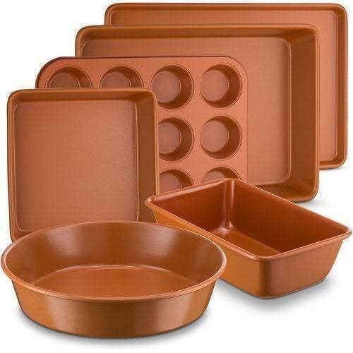 LivingTrend Kitchen Copper Nonstick Bakeware 6 PC Set