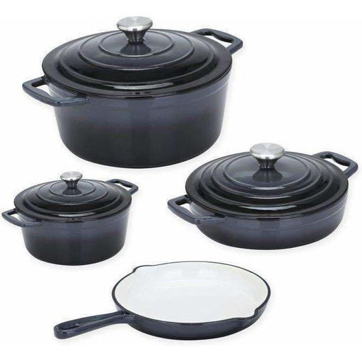 LivingTrend Kitchen Dutch Oven Cast Iron 4 PC Set