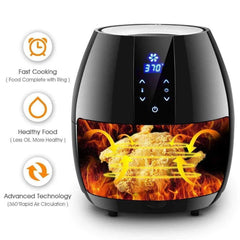 LivingTrend Kitchen Extra Large Air Fryer 5.8 QT with LED Display
