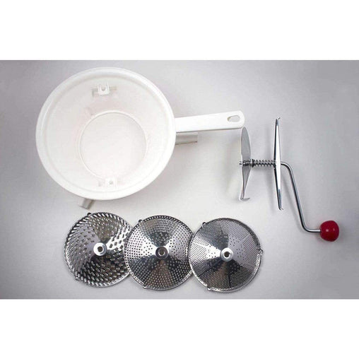 LivingTrend Kitchen Stainless Food Mill w/ Three Discs