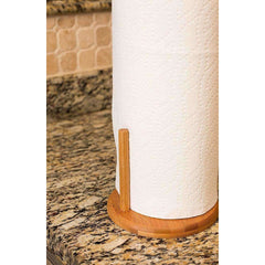 LivingTrend Kitchen Stand Bamboo Paper Towel Holder