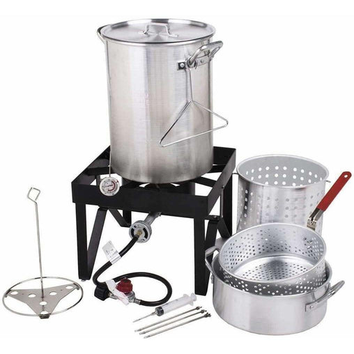 LivingTrend Outdoor & Garden Aluminum Turkey Fryer Kit 30QT